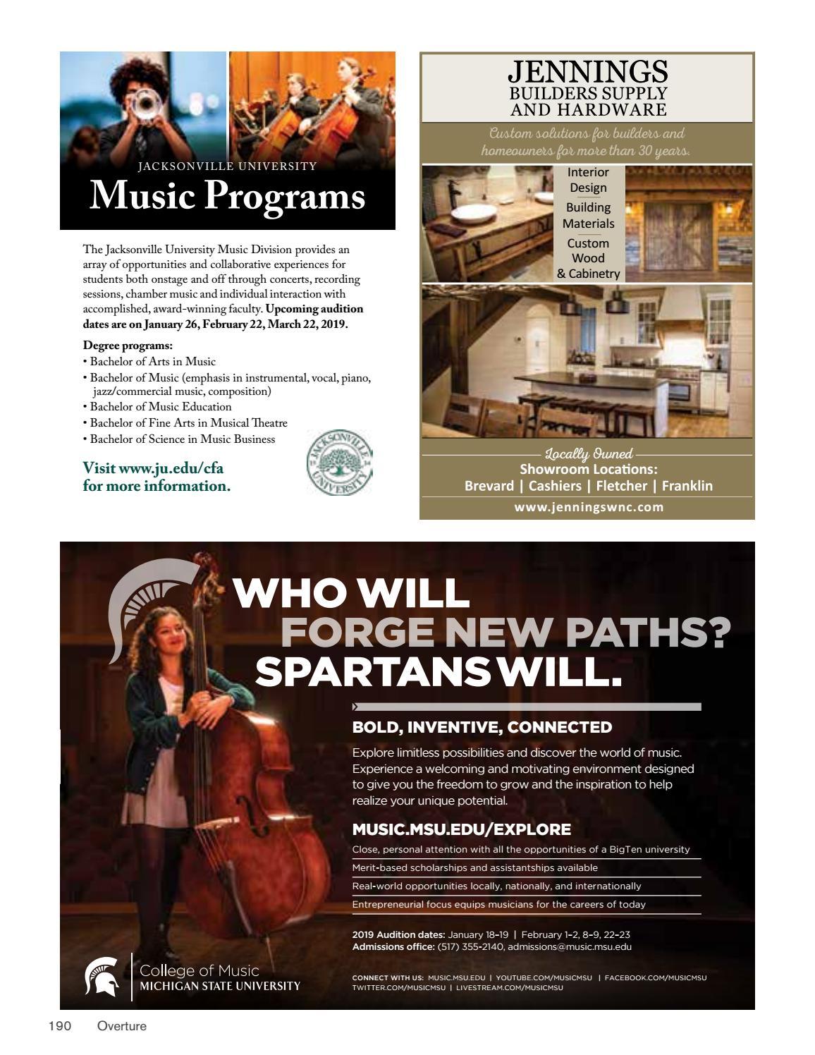 2018 BMC Overture Magazine by Brevard Music Center - issuu