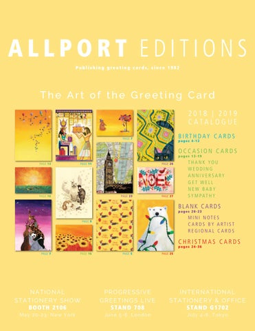 Allport Editions Greeting Cards UK CATALOGUE 2018 2019