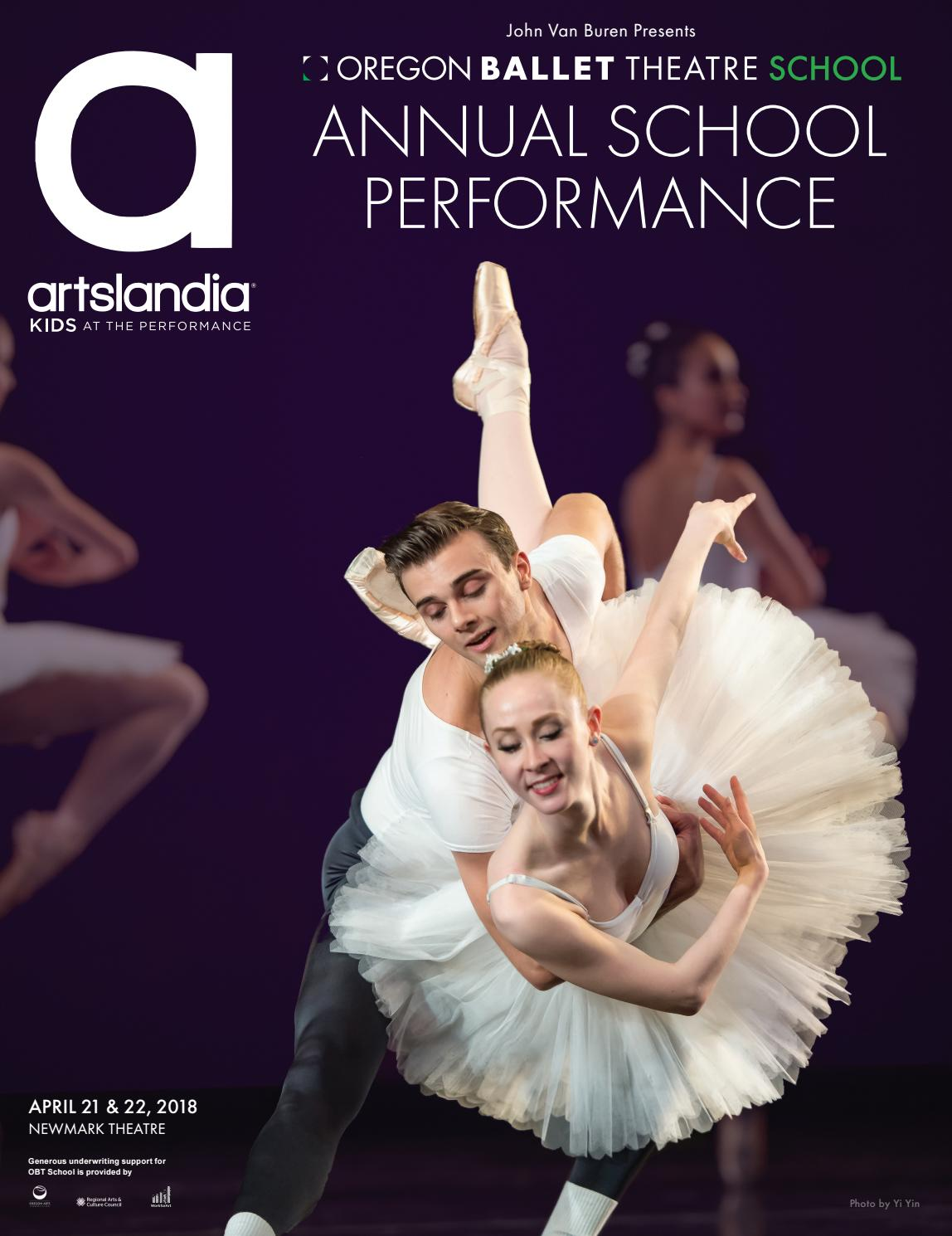 Oregon Ballet Theater 2018 Annual School Performance by Artslandia