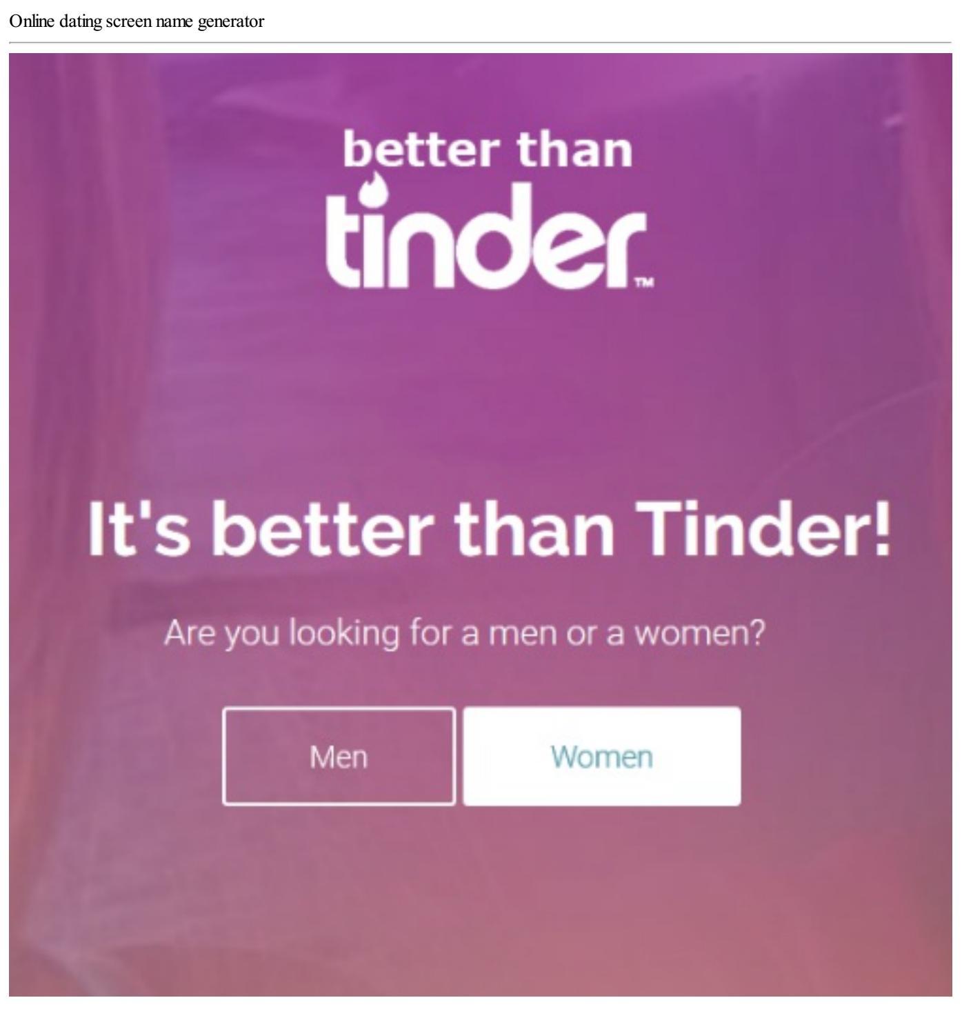 Screen name generator for dating site boston dating blog