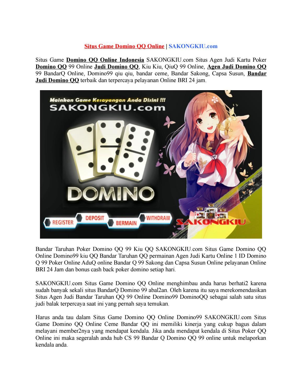 Situs Game Domino Qq Online Sakongkiu Com By Una Luna Issuu