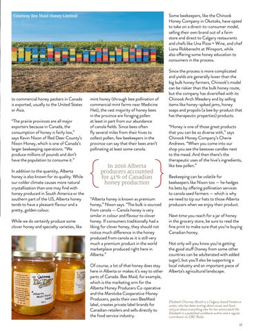 Page 17 of Alberta's Honey Industry Keeps On Buzzing