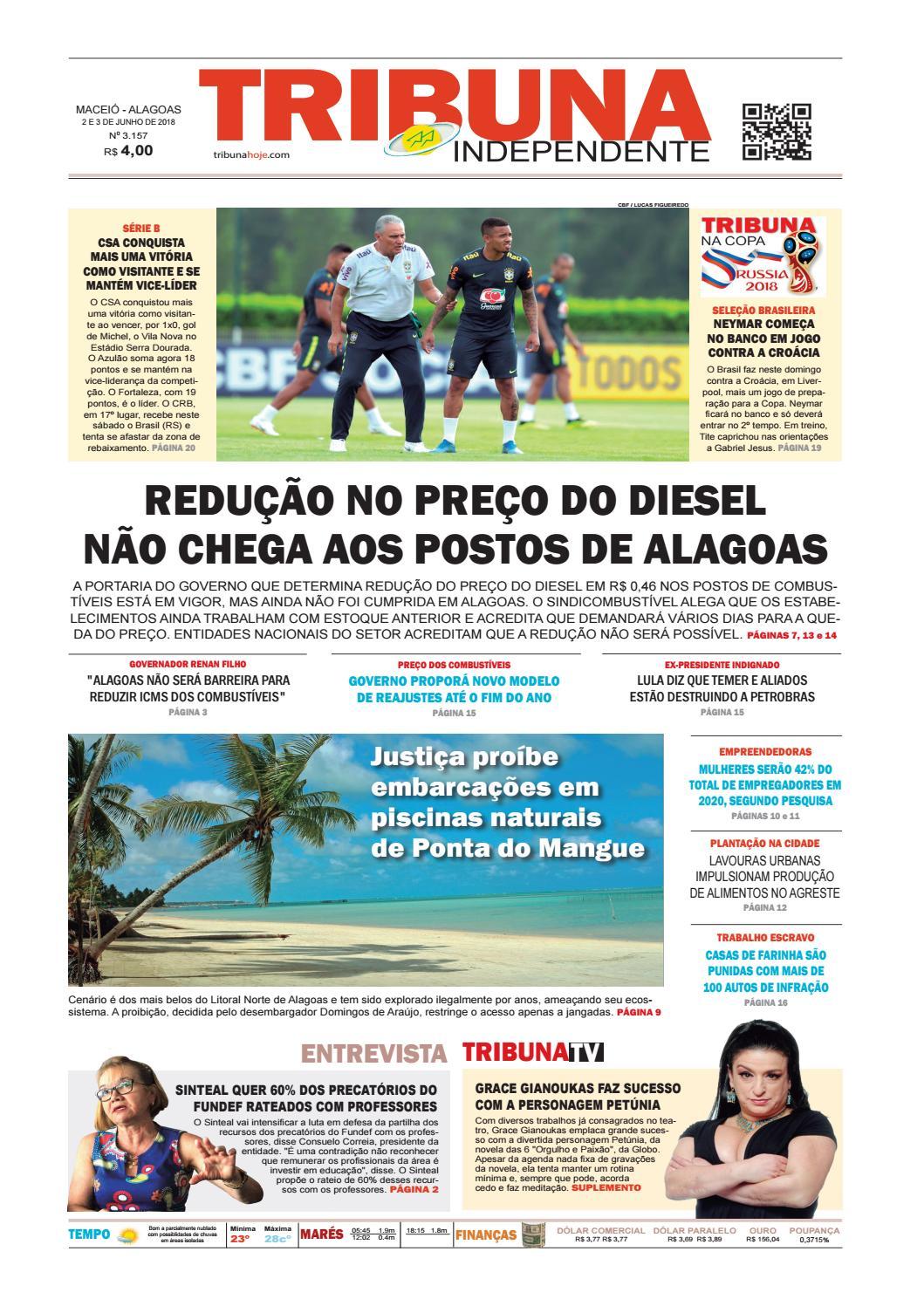 10f5a4b63 Edição número 3157 – 2 e 3 de junho de 2018 by Tribuna Hoje - issuu