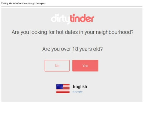 How to write a introduction on a dating site