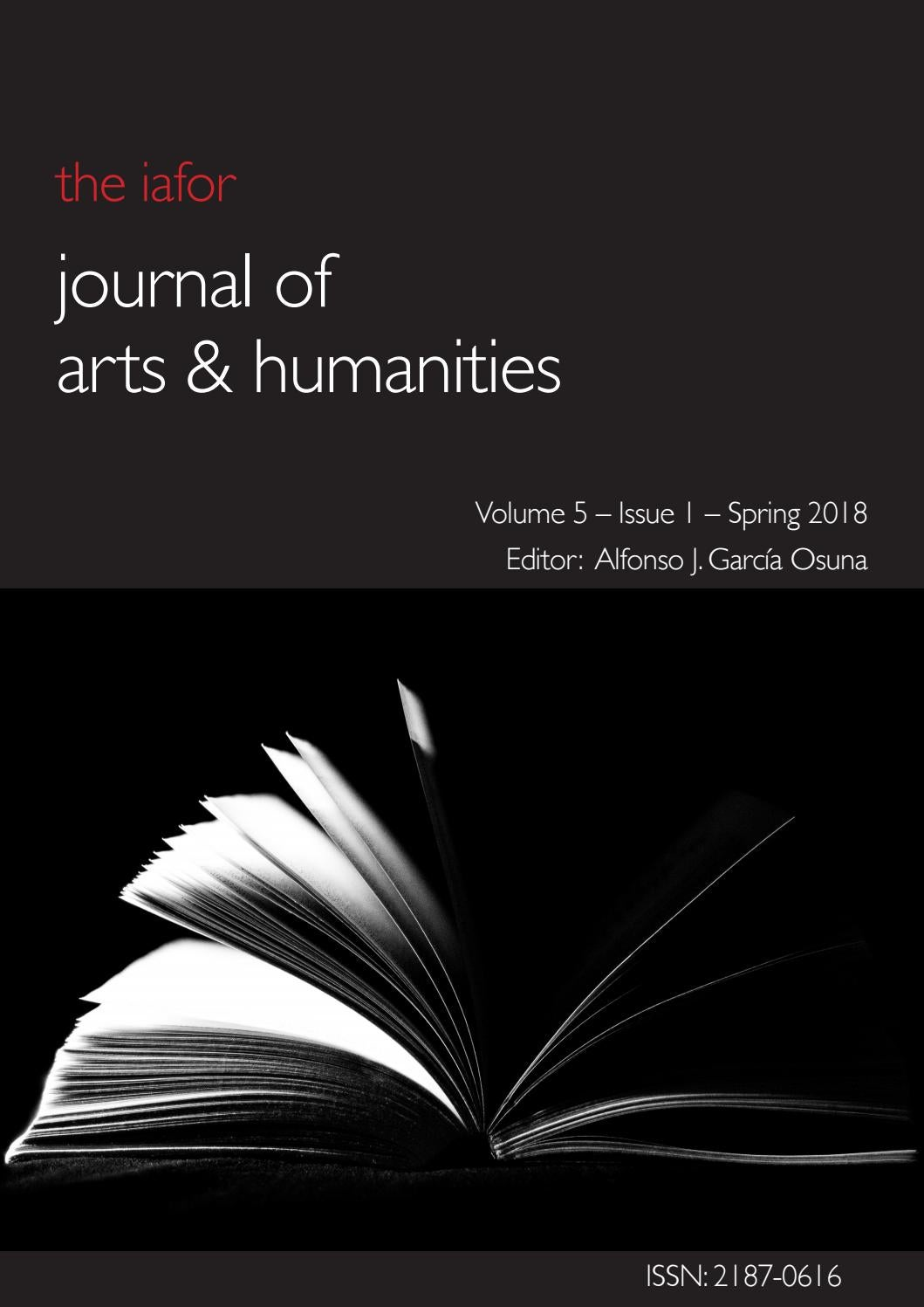 IAFOR Journal of Arts   Humanities Volume 5 – Issue 1 – Spring 2018 by  IAFOR - issuu 094a24af8