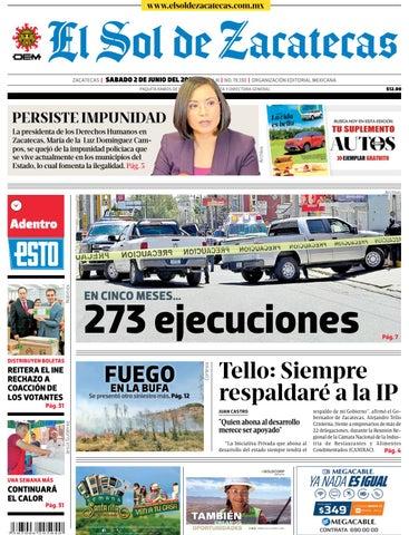 El Sol de Zacatecas 2 de junio 2018 by El Sol de Zacatecas - issuu 2bbc44390b4