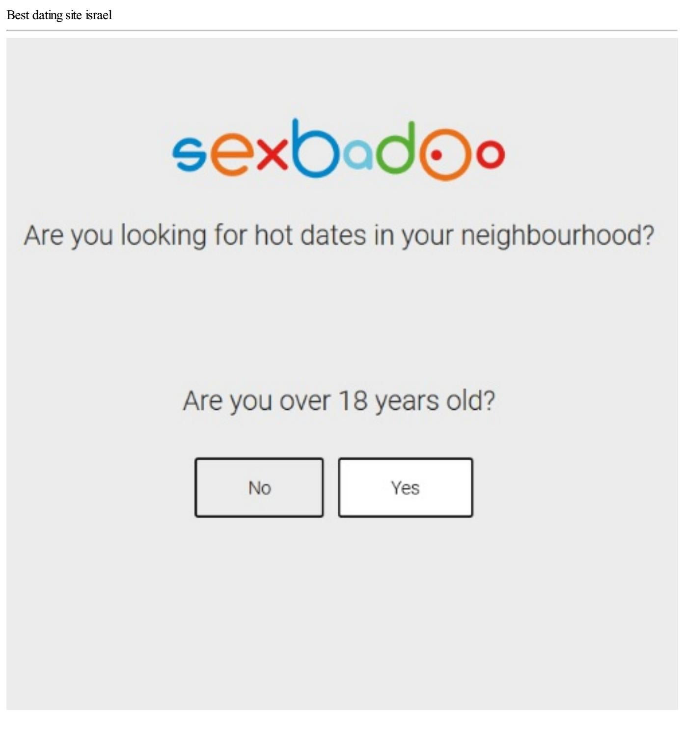 dating site in israel
