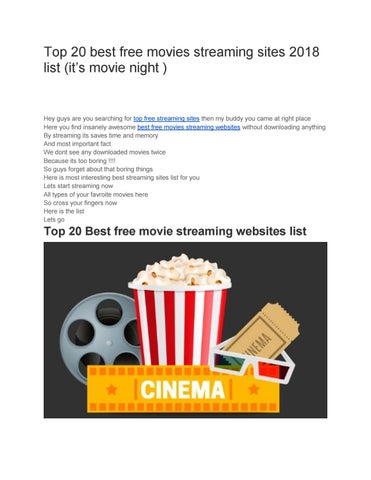 best free new movie streaming sites 2018