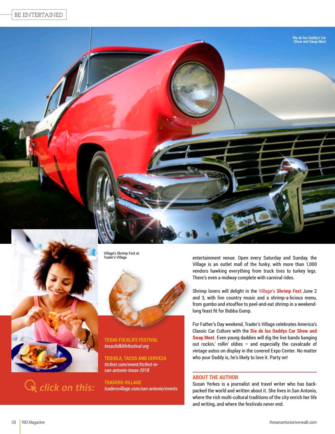 Rio June Issuu By Traveling Blender Issuu - Traders village san antonio car show