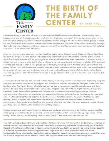 Page 24 of The Birth of the Family Center