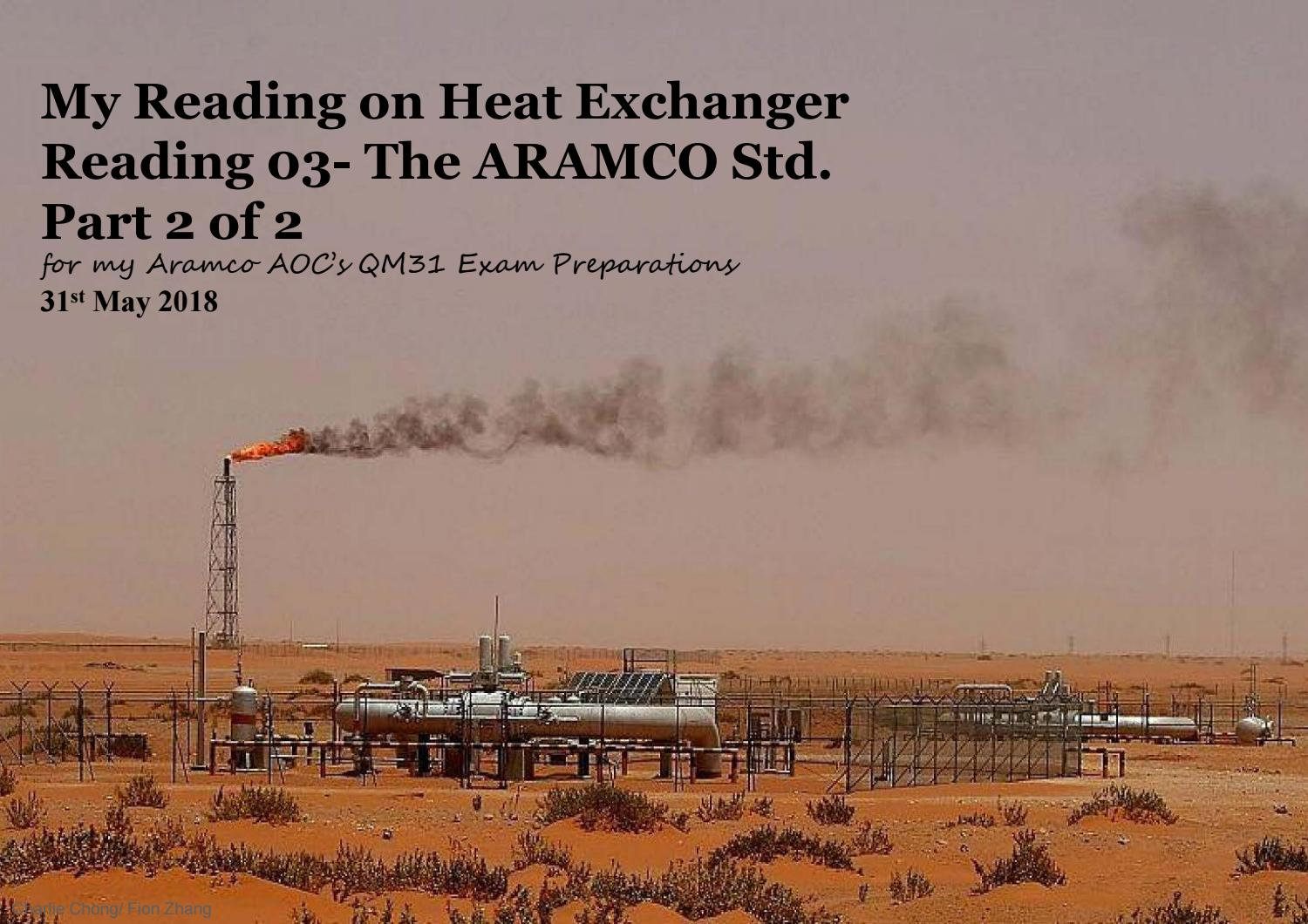Understanding Heat Exchanger Reading 03 Part 2 Of 2 The Aramco Std By Charlie Chong Issuu