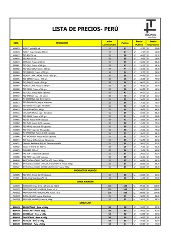 fc8f2943483 Lista de Precios Teoma Perú hasta Mayo 2018 by Mariella Mori - issuu