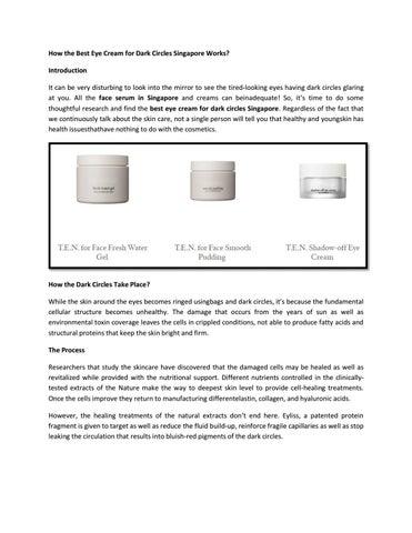 Face Serum And Eye Cream For Dark Circles By Cremorlab Singapore
