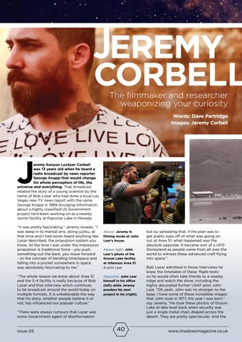 Page 40 of Jeremy Corbell - Independent Filmmaker