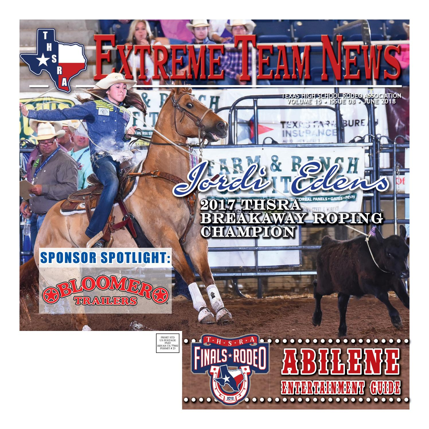 wholesale dealer a8950 55315 June 2018 Extreme Team News, Official News of Texas High School and Junior  High Rodeo