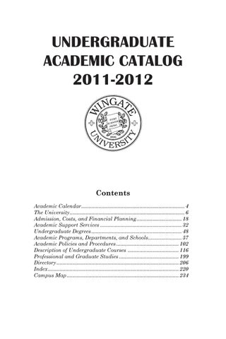2011-12 Undergraduate Course Descriptions by Wingate University - issuu