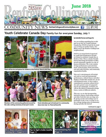 Page 1 of Youth Celebrate Canada Day, July 1, 2018