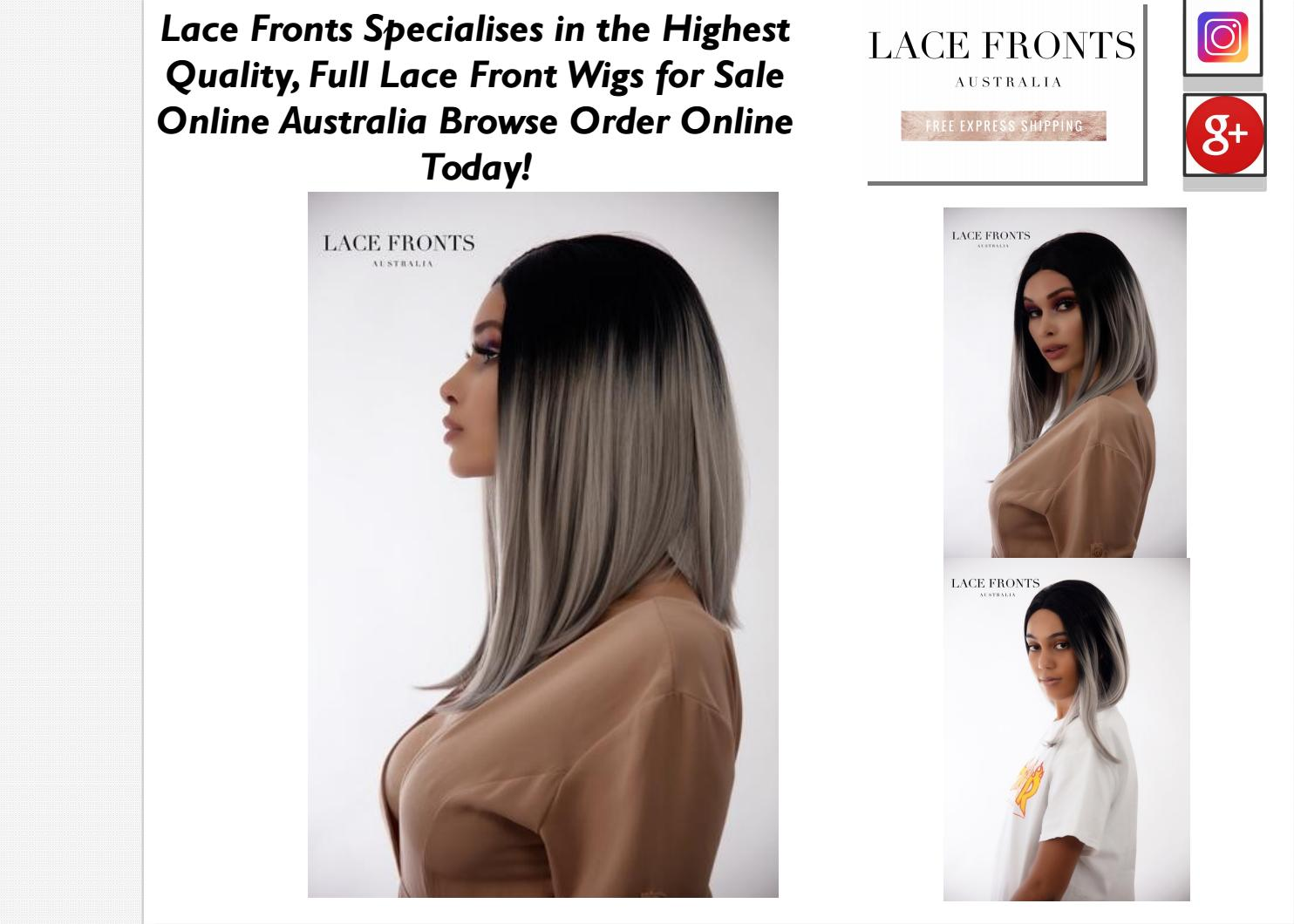 Buy Wigs & Front Wigs Online by Lace Fronts