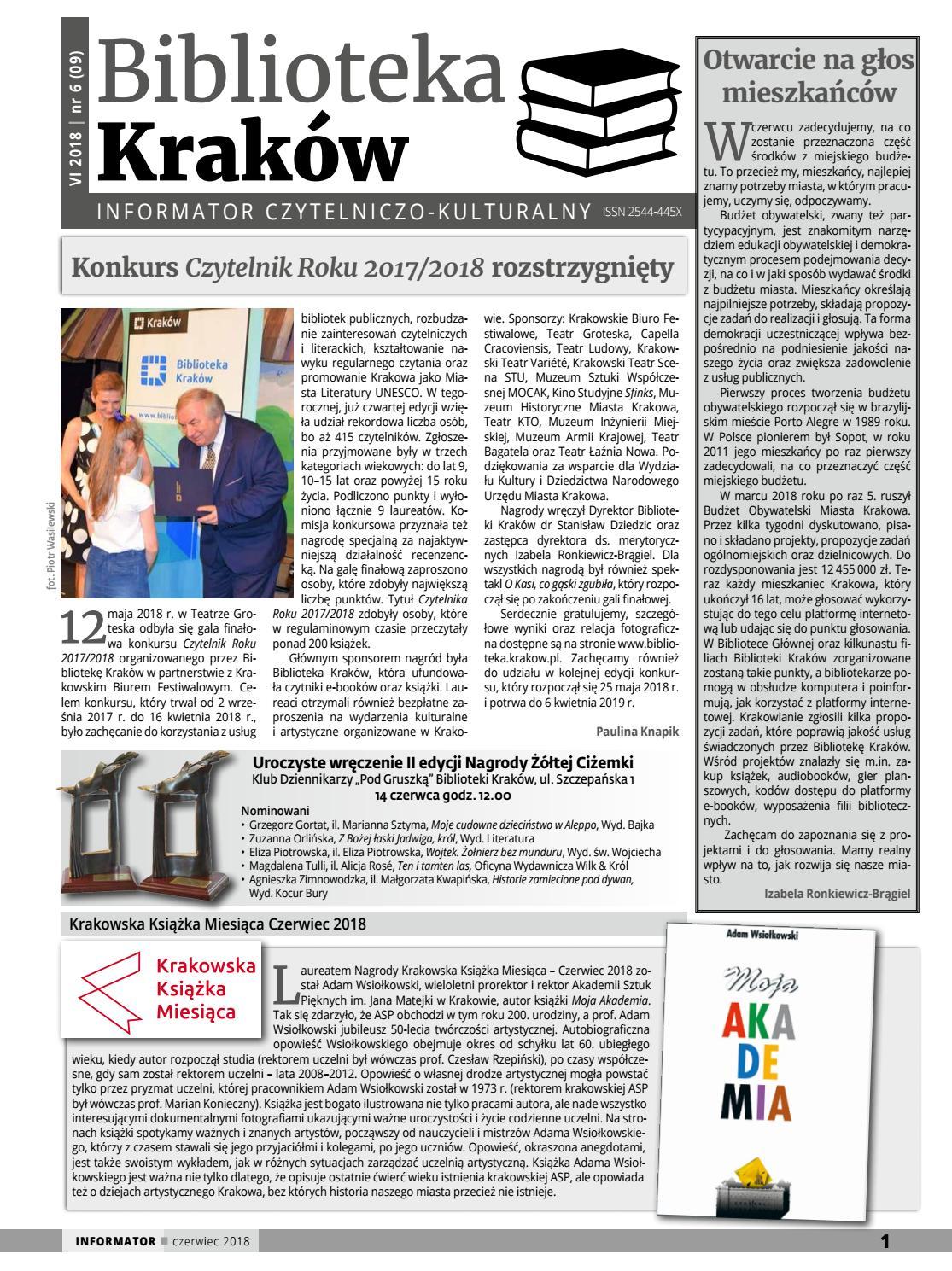 Biblioteka Kraków Informator Czytelniczo Kulturalny By