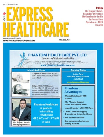 Express Healthcare (Vol 12, No 6) June, 2018 by Indian Express - issuu