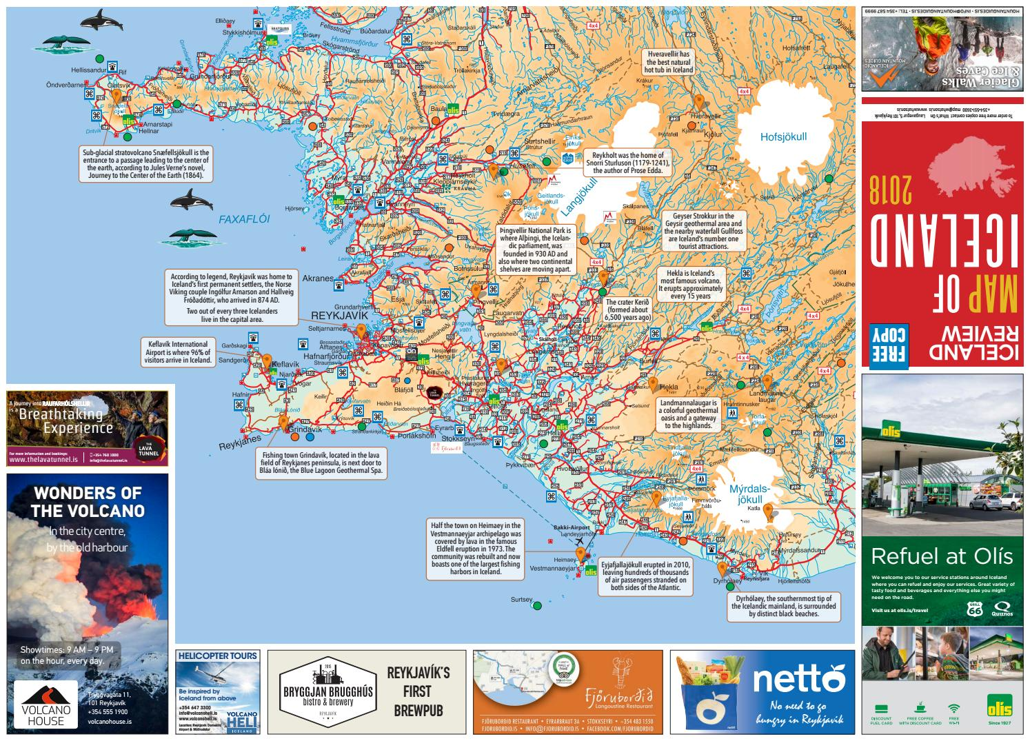 Iceland Review - Map of Iceland 2018 by MD Reykjavik - issuu