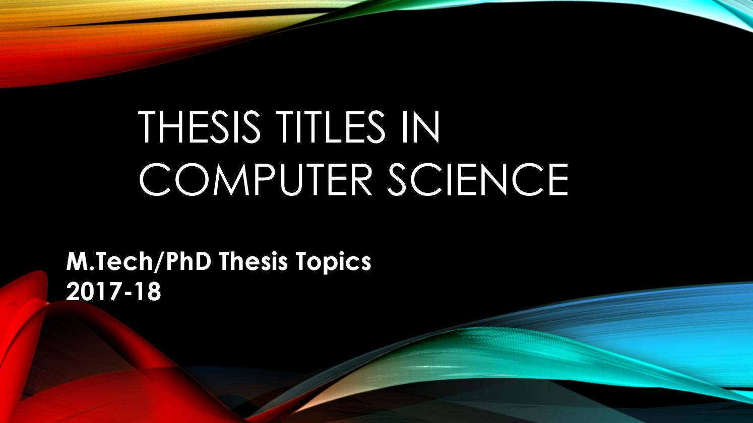 P hd thesis in computer science top dissertation conclusion writers sites for college