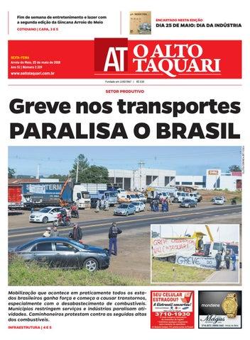 c5d5a61cd46 Jornal O Alto Taquari - 25 de maio de 2018 by Jornal O Alto Taquari ...