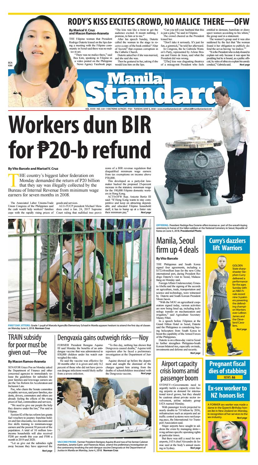 Manila Standard - 2018 June 5 - Tuesday by Manila Standard - issuu