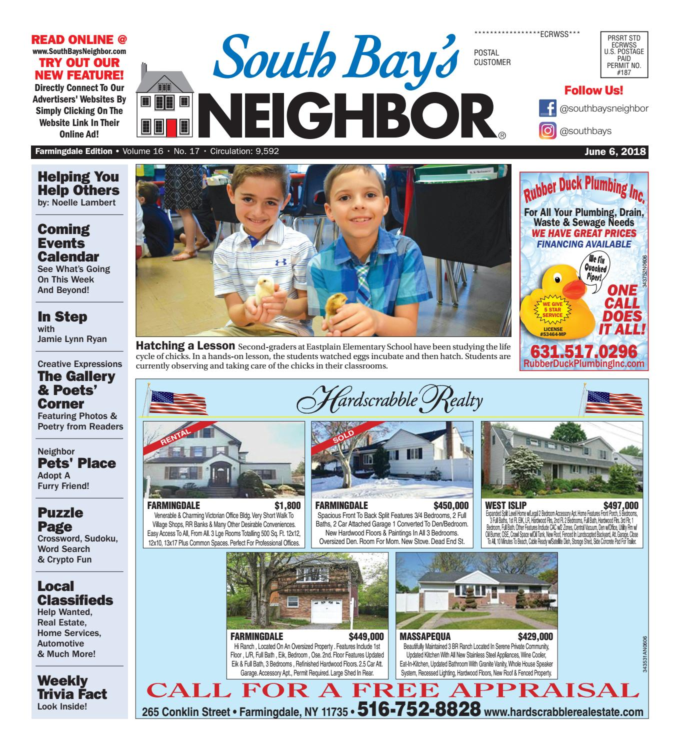 june 6th, 2018 farmingdale by south bay's neighbor newspapers - issuu
