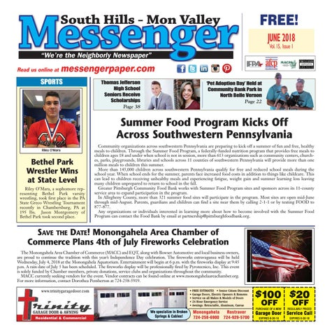 South Hills Mon Valley Messenger June 2018 by South Hills Mon Valley ... e836c6d9cf4