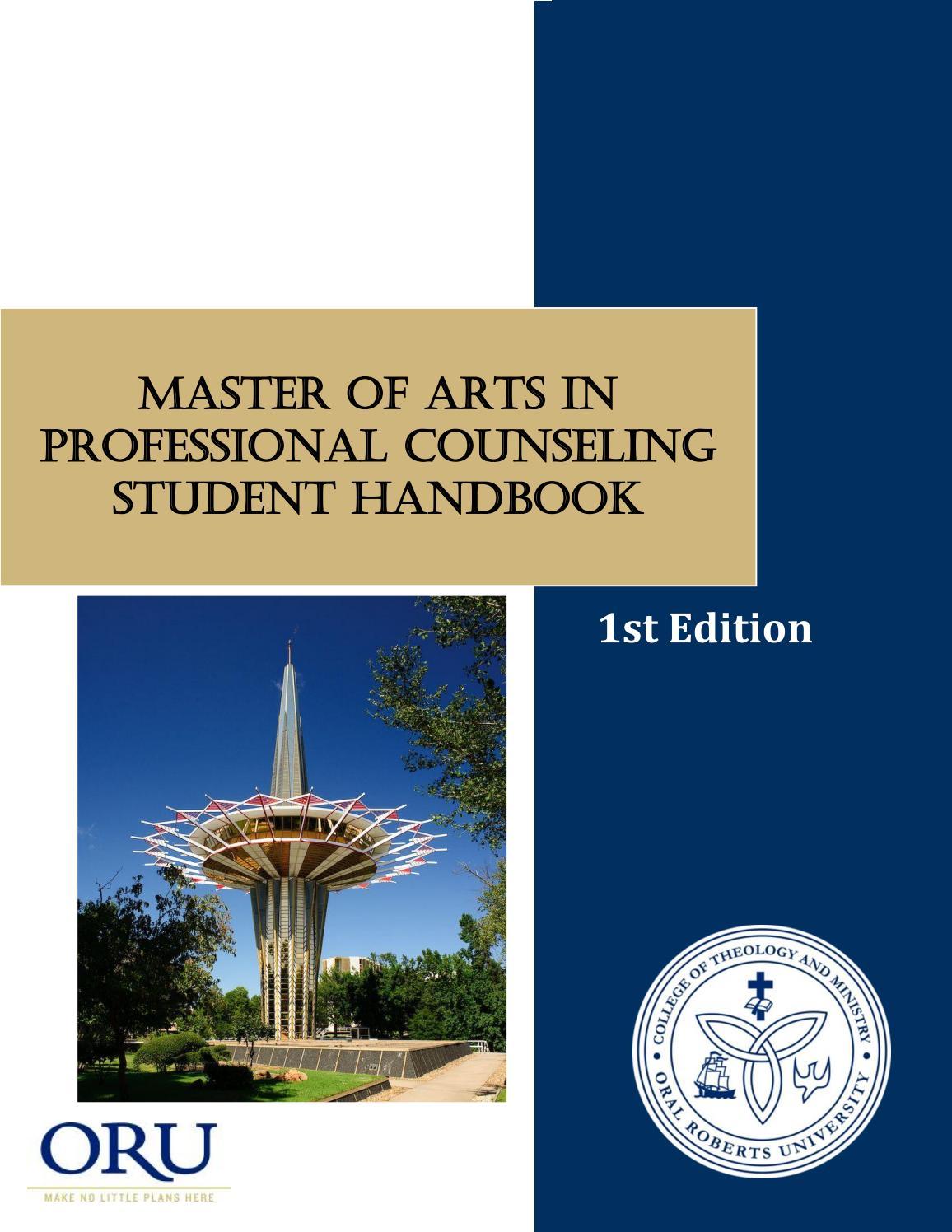 Professional Counseling Student Handbook by orugraduatecounseling - issuu