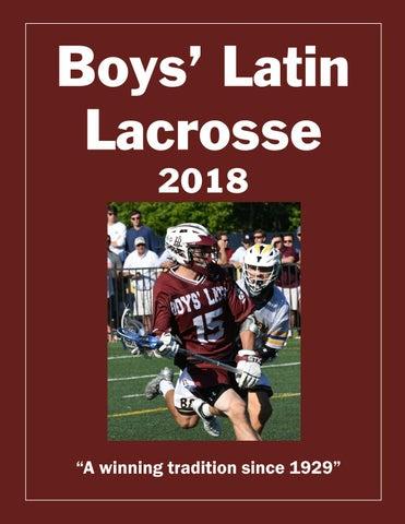 2018 Boys' Latin Lacrosse Program by Publications Boys' Latin - issuu