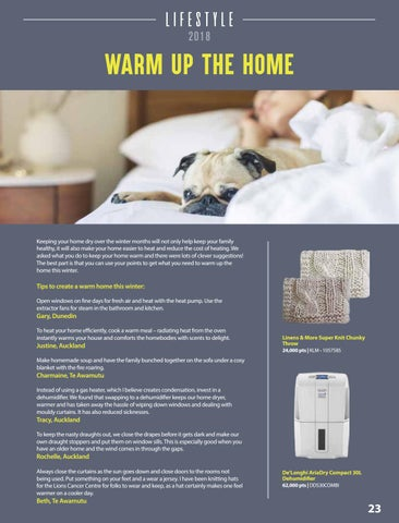 Page 25 of Tips for a Warm and Healthy Home this Winter