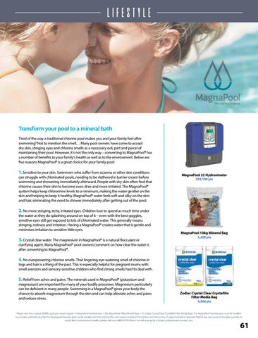 Page 63 of Transform Your Pool to a Mineral Bath