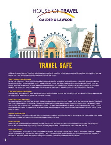 Page 8 of Travel Safe with House of Travel