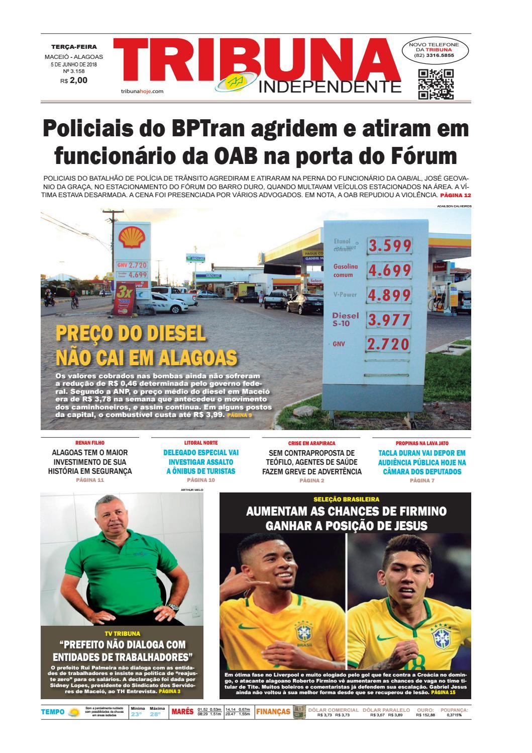 0e1131a36 Edição número 3158 - 5 de junho de 2018 by Tribuna Hoje - issuu