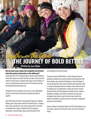 Page 10 of Together on the Climb: The Journey of Bold Betties