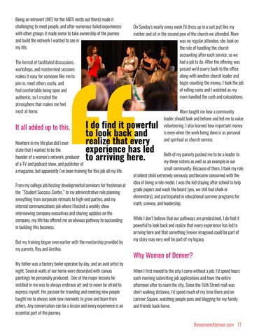 Page 17 of Why I Started Women of Denver