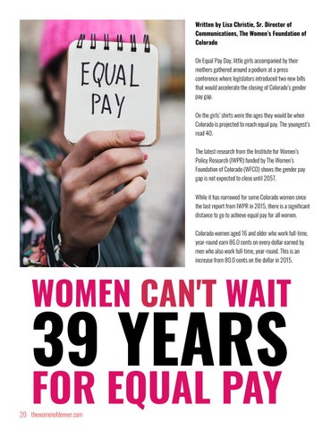 Page 20 of Women can't Wait 39 Years for Equal Pay