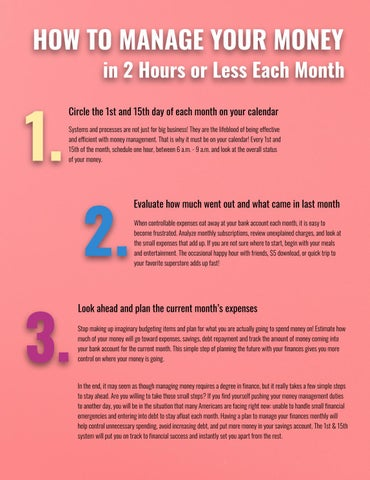 Page 25 of How to Manage Your Money in 2 Hours or Less Each Month