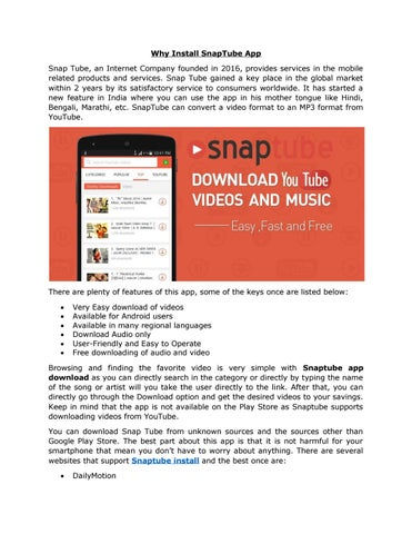 Why install snaptube app by 9appsdownload - issuu