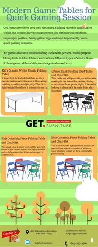 Modern Game Tables For Quick Gaming Session By Getfurniture Issuu