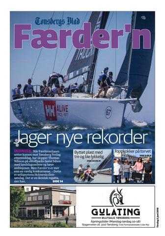1b510342 Færder'n Jager nye rekorder setter kursen mot Tønsberg fredag ettermiddag,  har skipper Thomas Nilsson på «Wolfpack» lastet båten med landslagsseilere  og ...