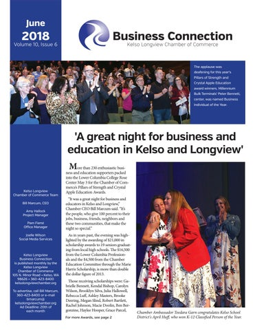 June 2018 Business Connections By Kelso Longview Chamber Of Commerce