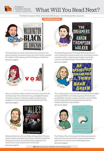 What Will You Read Next Fall 2018 By Prh Library Issuu