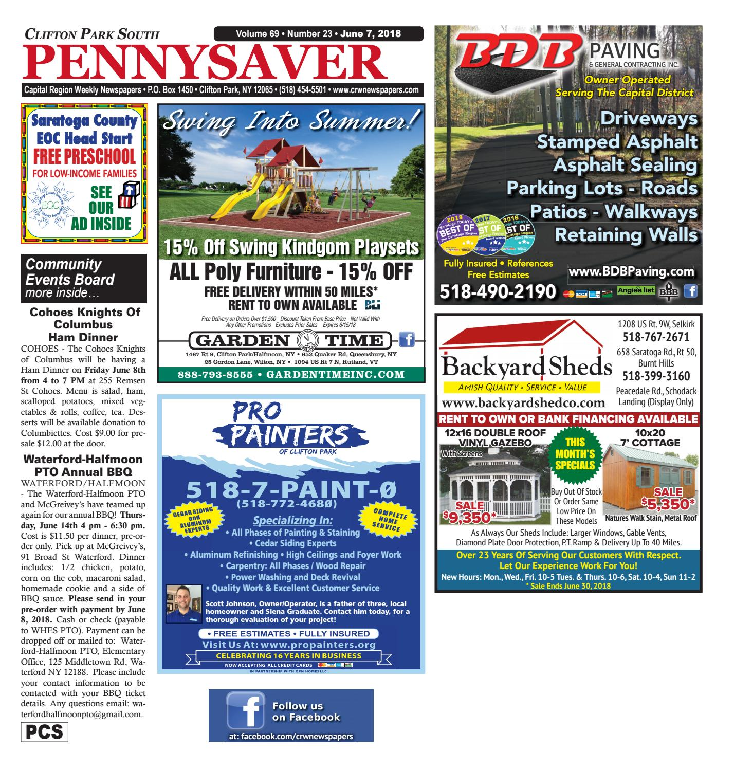Clifton Park South Pennysaver 060718 by Capital Region Weekly ... on