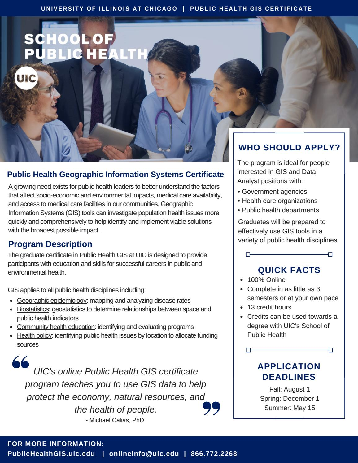 Public Health Geographic Information Systems By Uic School Of Public