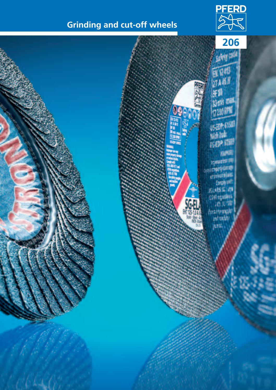 """PFERD 9/"""" Grinding Wheel for Stainless SG-Elastic E 230-7 A 30 N SG-INOX"""