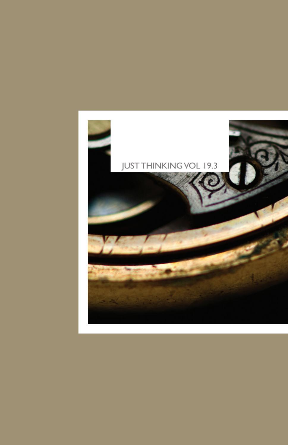 Just Thinking Vol  19 3 by James Balgalore - issuu