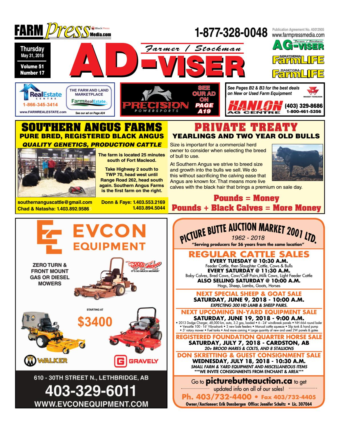 Southern Alberta Advisor, May 31, 2018 by Black Press Media Group